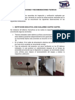 OBSERVACIONE Y RECOMENDACIONES TECNICAS pdf