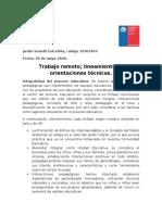 Consolidado trabajo remoto lineamientos y orientaciones tecnicas  2020 ESTRELLITA