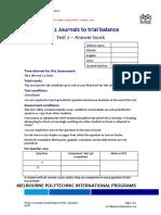 Journals to trial balance\Kisi-kisi soal Journals to trial balance Test 2 Question book