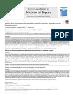 Efectos de la suplementación con cafeína sobre la capacidad de producción de fuerza muscular