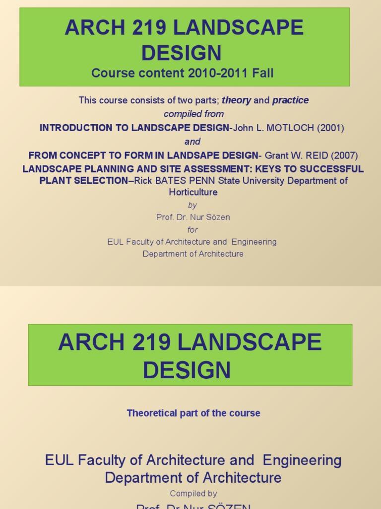 Landscape design courses: a selection of sites
