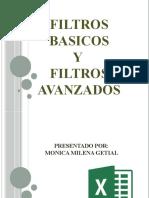 TRABAJO DE EXCEL FILTROS
