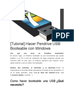 Hacer Pendrive USB Booteable con Windows