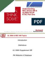 Understanding NEC Article 409 & UL508A SCCR