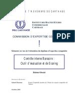 Contrôle interne Bancaire - Outil d'évaluation et scoring