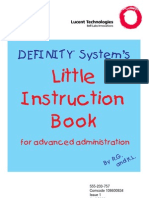 Definity Little Instruction Book Advanced Admin