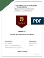 Case Review on T.N. Godavaram Case