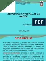 Desarrollo Integral de la Nacion. Tema 1