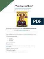 Resumen - Psicología del Éxito