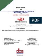 Final Project of Mahindra Internship