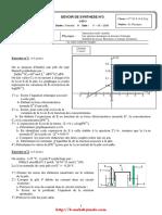Devoir de synthèse N°3 (Corrigé) - Physique - Bac Math, Sc exp  Tech (2008-2009).pdf