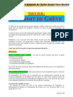 Droit du travail, document sur la grève