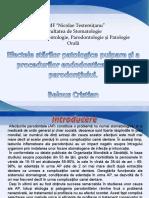Efectele starilor patologice pulpare si a procedurilor endodontice asupra parodontiului