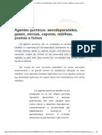 Agentes Químicos_ Aerodispersóides, Gases, Névoas, Vapores, Neblinas, Poeiras e Fumos