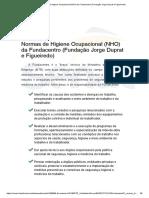 Normas de Higiene Ocupacional (NHO) Da Fundacentro (Fundação Jorge Duprat e Figueiredo)