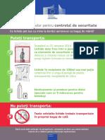 Informare Pentru Pasageri Reguli Pentru Lichidele Transportate CA Bagaj de Mana RO-27.01.14