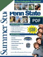 Summer Study at Penn State Brochure 2011