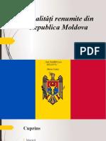 Personalitati remarcabile din Republica Moldova