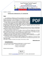 Devoir Et Corrige Francais 3ASS5 T1 2016