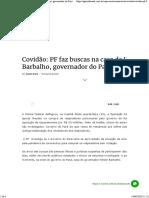 Covidão_ PF faz buscas na casa de Helder Barbalho, governador do Pará