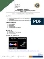GUÍA No. 3 LEY DE COULOMB