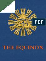 """The Equinox vol III no 1 (""""The Blue Equinox"""")"""