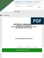 (PDF) OFÍCIO CRIADOR  Luiz Claudio M. Ribeiro - Academia.edu