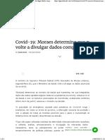 Covid-19_ Moraes determina que governo volte a divulgar dados completos