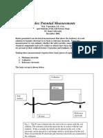 Redox Potential Measurements