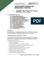 ESPECIFICACIONES TECNICAS MOBILIARIO