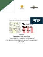 1.Tanatología Forense,Concepto y Cotenido