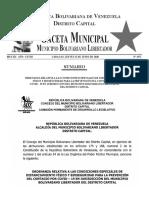 Ordenanza relativa a las condiciones Especiales de Distanciamiento físico y Bioseguridad para la Prevención Covid-19