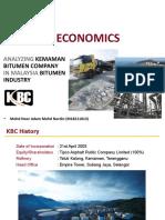Analyzing KBC in Malaysia Bitumen Industry