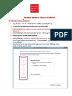 Software Installation manual