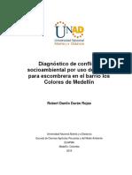 Diagnóstico de conflicto Escombrera barrio los colores