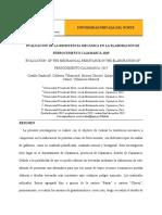 EVALUACIÓN DE LA RESISTENCIA MECÁNICA EN LA ELABORACIÓN DE FERROCEMENTO CAJAMARCA