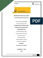 INFORME MATERIALES DE CONSTRUCCIÓN  PDF