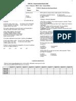 Teste 2-A 1a série Médio (3o Bimestre)