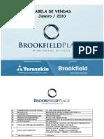 Brook Field Place - Tabela de Vendas (JAN-11)