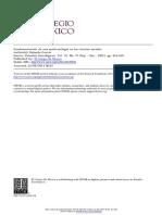 García, R. (2001). Fundamentación de una epistemología en las ciencias sociales