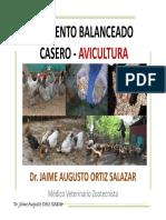 ALIMENTO BALANCEADO CASERO - AVICULTURA