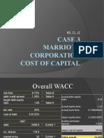 Marriott Corp Case