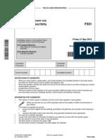F331Jun10 Marking Scheme