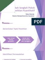 11 - Langkah-langkah Pokok dalam Penelitian Kuantitatif