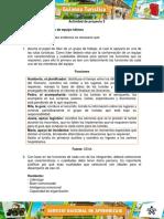 Actividad de proyecto 5  Evidencia 4 Taller Consolidar Un Equipo de Trabajo
