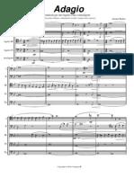 Barber Adagio for 10 Bassoon - Score