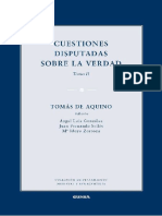 De Aquino, Tomás. Cuestiones disputadas sobre la verdad II