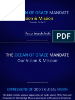 The Ocean of Grace Mandate - Vision & Mission - Pst Joseph Asoh