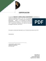 CERTIFICACION DE PRACTICAS mile