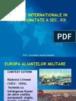 Relatiile internationale in a doua jumatate a sec XIX